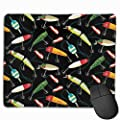 Fishing Lure Personalized Design Mouse Pad Gaming Mouse Pad with Stitched Edges Mousepads, Non-Slip Rubber Base, 9.8x12 Inch, 3mm Thick - Best Gift Idea by Wellay