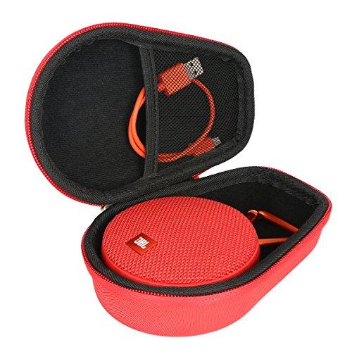 for pour JBL Clip 2 3 Enceinte Etanche Ultra-Portable Bluetooth EVA Dur Cas étui de Voyage Housse by Khanka (Rouge)