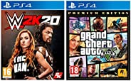 WWE 2K20 (PS4)&Grand Theft Auto V – Pre