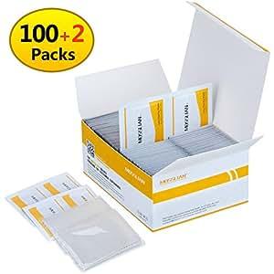 Kit Pulizia Lenti e Schermo,100 Pack Salviette di pulizia, 2 x panni per pulire per iPhone iPad Bicchieri Telefono Occhiali Lenti