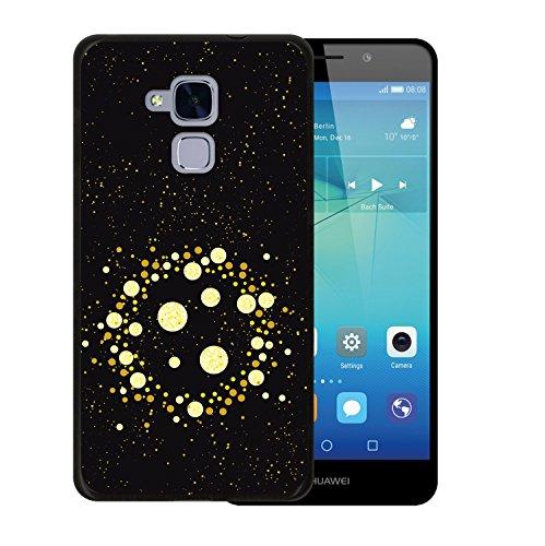 WoowCase Huawei GT3 Hülle, Handyhülle Silikon für [ Huawei GT3 ] Schickes Stil Goldene Punkte Handytasche Handy Cover Case Schutzhülle Flexible TPU - Schwarz