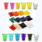 12 Farben -6000 Stück,Tesan Wasser Perlen Wasserperlen Gelperlen Aquaperlen Vaseenfüller für Hochzeit und Möbel Dekoration