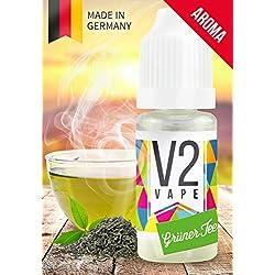 V2 Vape Grüner-Tee AROMA / KONZENTRAT hochdosiertes Premium Lebensmittel-Aroma zum selber mischen von E-Liquid / Liquid-Base für E-Zigarette und E-Shisha 30ml 0mg nikotinfrei