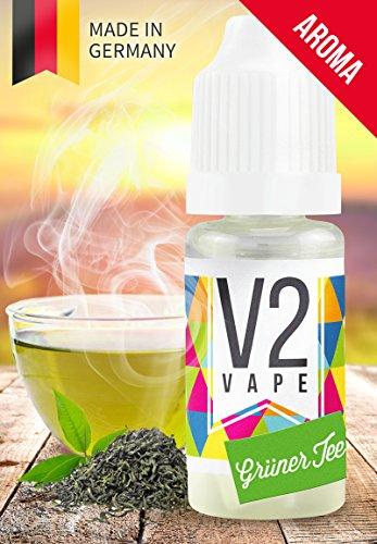 Grüner Tee-konzentrat (V2 Vape Grüner Tee Konzentrat hochdosiertes Premium Lebensmittel-Aroma zum selber mischen von E-Liquid / Liquid-Base für E-Zigarette und E-Shisha 10ml 0mg nikotinfrei)