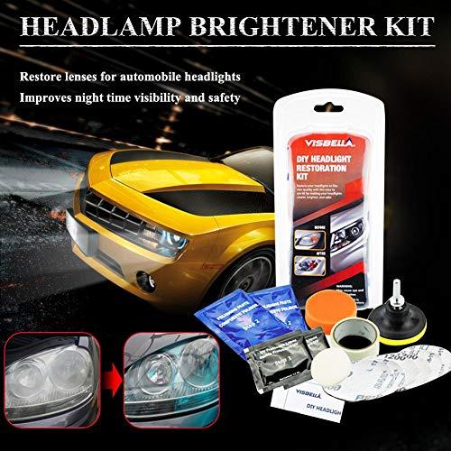 Goodtimera Car Headlamp Lampshade Scratch Polishing Tools Brightener Kit Headlight Repair Coating Brightener