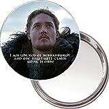 'Ich Bin uhtred von bebbanburg....' Einzigartige Button Spiegel mit Ein Bild Von uhtred aus der BBC TV Serie das letzte Königreich.
