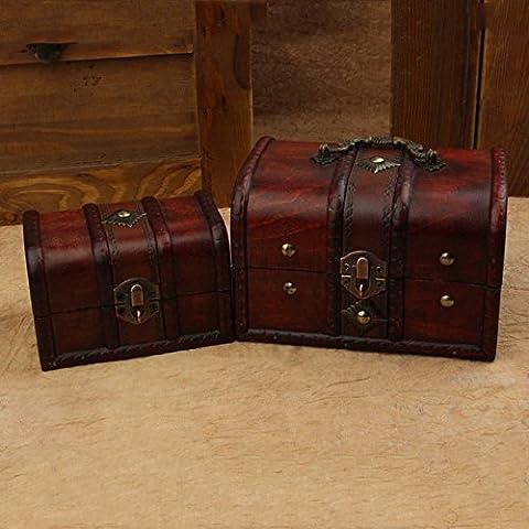 GG Europeo retro scatole in legno box. antico deposito serratura portagioie in legno