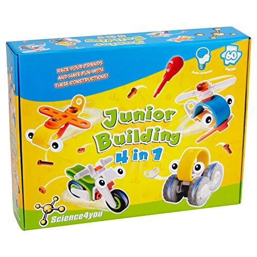 Science4you-Junior Building 4 in 1, Juguete Educativo y...