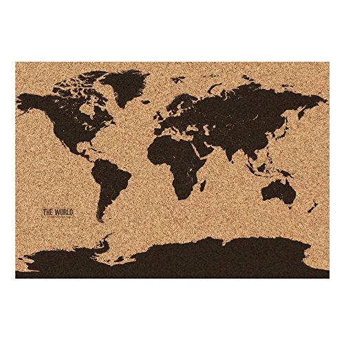 Gift Republic Carte du monde en liège Multicolore
