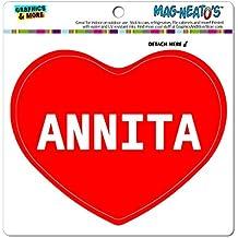 mag-neato' S Panneau de signalisation voiture (TM) aimant de réfrigérateur en vinyle Cœur I Love noms femelle a Angl, Annita