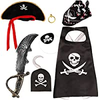 VAMEI 6pcs Inflatable Pirate Swords Balloons For Party Supplie Kids Pirate Accessories Pirate Costumes