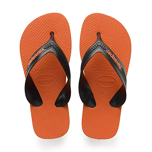 Havaianas Unisex-Kinder Kids Max Zehentrenner, (Steel Grey/Neon Orange), 35/36 EU