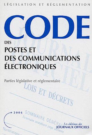 Codes des postes et des communications électroniques (n.20015) Parties législative et réglementaire