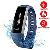 TEZER Montre Connectée R5.PR1 , Fitness Tracker - Fitness Tracker Heart Rate Monitor Watch Smart Band , Smart Bracelet with OLED Touch Screen for iOS & Android