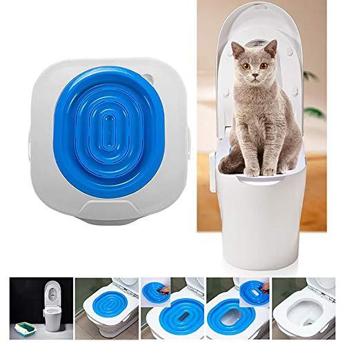 LONG-C Katzentoilette Trainer Cat Toilet Training Kit Wurf Tablett Matte Haustier Reinigung Versorgungs Ausbildung Produkte