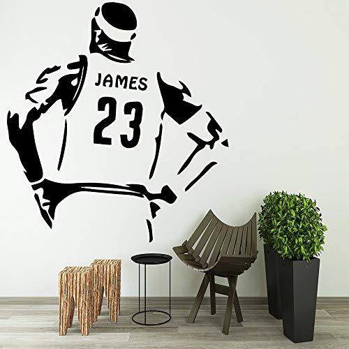 Star Lakers Lebron James Wandtattoo Kunst Vinyl Aufkleber Für Kinderzimmer Dekoration Wandbild Jungen Raumdekoration M 30 cm X 32 cm ()