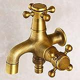 Hlluya Wasserhahn für Waschbecken Küche Der Kupfer- Erkältung Wasseranschluß,
