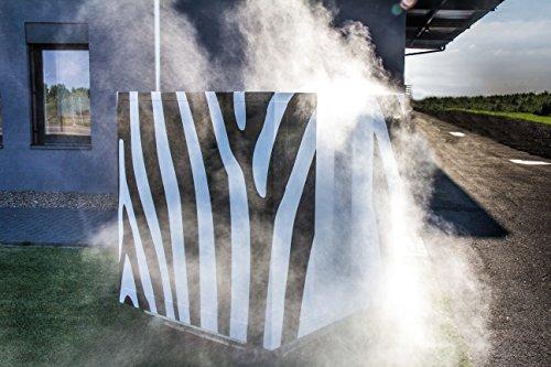 COOLBOX Nebelkabine für hygienische Saunaerfrischung im Zebra-Look (moderne Tauchbecken-Alternative) - 2
