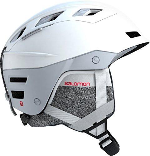 Salomon casco da sci e da snowboard per donna, interno in schiuma eps 4d, taglia s, circonferenza : 53-56 cm, qst charge w, bianco white pop, l40538100