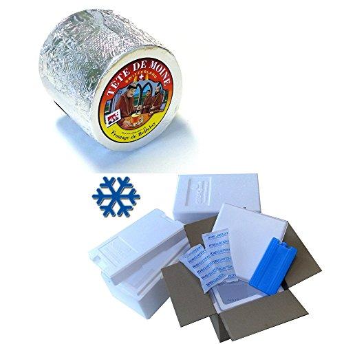Preisvergleich Produktbild Tete de Moine AOP Switzerland Mönchskopfkäse Classic 850g ganzer Laib für Girolle KÜHLBOX-Versand mit Styroporbox und Spezialkühlakku für Lebensmittelversand