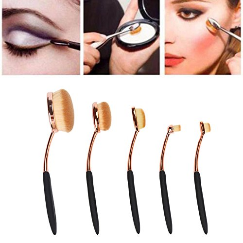 Saingace® 5PC / Set Toothbrush style Sourcils Foundation Brush Eyeliner pinceaux de maquillage