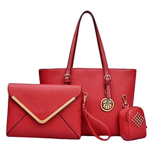 Art Und Weiseschulterbeutel Diagonale Querbeutelhandtasche Liu Nagel Einfache Wilde Dame Reißverschluss Red