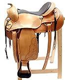 Westernsattel ATLANTA ECO aus Büffelleder hoher Qualität Reining Sattel Neu, Größe:16 Zoll