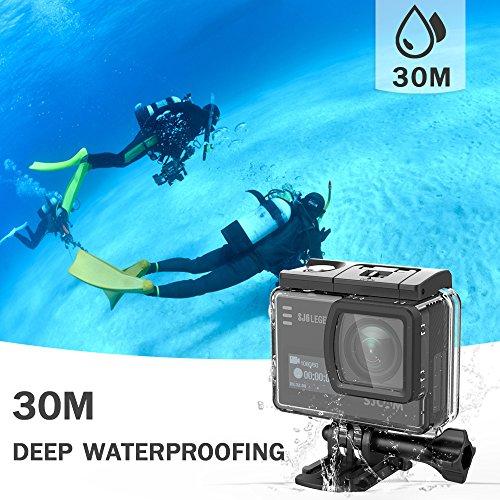 SJCAM SJ6 Legend 4K Action Camera Wifi Waterproof 16MP Ultra HD Underwater Video Camera GYRO Stabilization Sports Camcorder Black + 2*Battery + Dual Charger