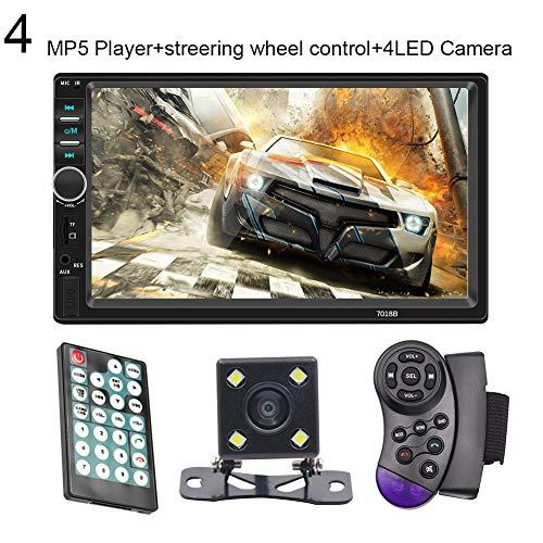 Sguan-wu 7018B 2DIN Autoradio Bluetooth Audio 7 Zoll HD Rückfahrkamera USB MP5 Player - 4#