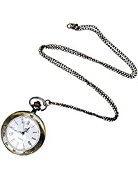 Young & Forever Valentine Gifts Special Bronze Carve Greek Designer Necklace Pocket Watch For Women / Men / Girls...