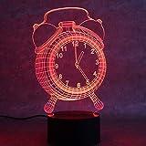 3D Lampe Nachtlicht Bunte Atmosphäre-Leuchte-Usb-Tischlampe-Neuheitschlafgeschenk-Wecker-Lampe