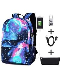 Gorgebuy Luminous Backpack - Mochila de Ocio Mochila Luminosa con Puerto de Carga USB Mochila Escolar