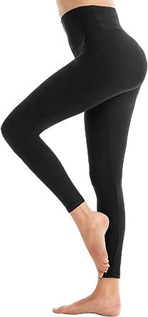 SINOPHANT Leggings Donna Fitness, Pantaloni Sportivi Yoga Vita Alta Controllo Della Pancia Opaco Elastici Morbido