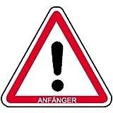 INDIGOS UG - Anfänger Hinweisschild für Kraftfahrzeuge, selbstklebende Folie 20cm - Warnung - Sicherheit - Hotel, Firma, Haus