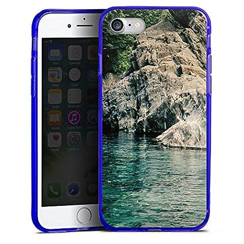 Apple iPhone 7 Silikon Hülle Case Schutzhülle Felsen Meer Bucht