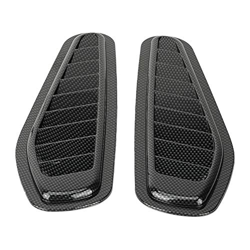 Lufteinlass Schaufel, 2 Stück Carbon Style Car Dekorative Luftstrom Ansaugschlauch Bonnet Vent Hood Cover Universal