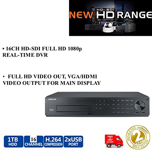 Samsung srd-1680d 8/16CH HD-SDI-Hybrid DVR Full HD 1TB 1080P Echtzeit Recorder Samsung Hd-dvrs