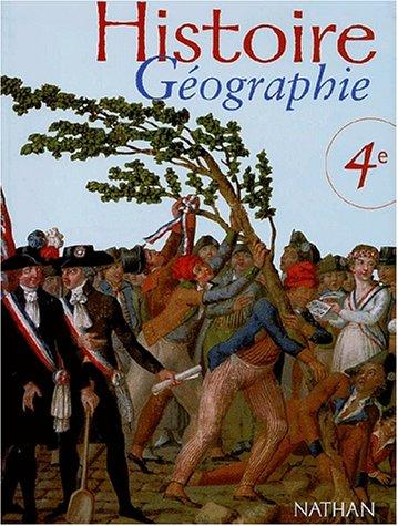 Histoire Géographie 4ème. Programme 1998