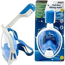 Sportx Masque de Tuba Complet Bleu Taille XS Masque de Plongée Natation