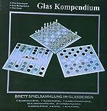 Glas Kompendium - Brettspielsammlung / Spielesammlung Schach Dame Backgammon
