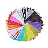 20fogli foto angoli adesivi angoli, multicolore per fai da te scrapbook, foto album, diario personale, diario