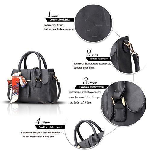 Sunas Il nuovo sacchetto di spalla trasversale del sacchetto del messaggero della spalla di svago di svago delle borse delle donne di modo di alta qualità grigio