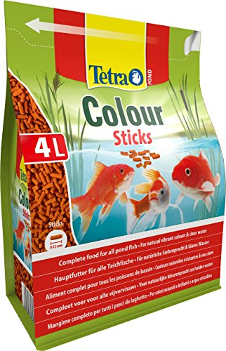 Tetra Pond Colour Sticks (Hauptfutter zur Entfaltung der natürlichen Farbenpracht aller Teichfische), 4 Liter Beutel - 4
