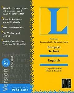 Langenscheidts Fachwörterbuch Kompakt Technik, Englisch, 2.1, 1 CD-ROM Englisch-Deutsch/Deutsch-Englisch. Für Windows 3.1/95/98/NT 3.51 und MacOS 7.5. Mit 60.000 Fachbegriffen, Schnelle Stichwort- u. Volltextsuche, Benutzerwörterbuch