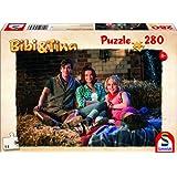 Schmidt Spiele Bibi & Tina Puzzle zum Kinofilm - Bibi, Tina und Alex im Stall