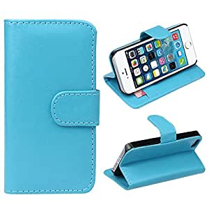 Atdoshop(TM)1PC Retro Leather Wallet Flip Cover Case For iPhone 5 5G 5S (Blue)