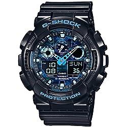 Casio G-Shock Reloj Analógico/Digital de Cuarzo para Hombre con Correa de Resina – GA-100CB-1AER