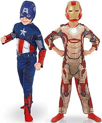 Pack disfraz niño Capitán América? e Iron Man? Los Vengadores? caja - De 3 a 4 años