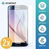 smartect Samsung Galaxy S6 Panzerglas Folie - Displayschutz mit 9H Härte - Blasenfreie Schutzfolie - Anti Fingerprint Panzerglasfolie [2 Stück]