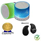 Lenovo ZUK Z1 Compatible Ceritfied Unifree Rechargeable Bluetooth Speaker WITH LED Wireless Audio Receiver Outdoor, Home Theater Portable USB MP3 Player Stereo Surround Loud Mini Radio Bluetooth Speaker Speakers with Light(Assorted Color) with FREE GIFT